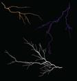 lightning-2 vector image vector image