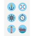 maritime icons sea vector image