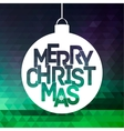Merry Christmas ball typography vector image vector image