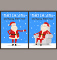 merry christmas thumb up vector image vector image