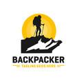 modern mountain explorer person logo vector image