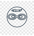 nerd concept linear icon isolated on transparent vector image vector image