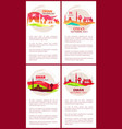 oman national day posters set vector image