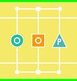 oop letters vector image vector image