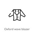 outline oxford wave blazer icon isolated black vector image vector image