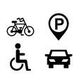 Parking icons vector image