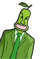 Pear man vector image vector image