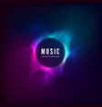 radial sound wave curve with light particles vector image vector image