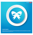 ribbon icon abstract blue web sticker button vector image vector image