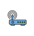 router signal internet flat line style vector image vector image