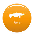 russia map in black simple vector image vector image
