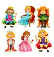 set fantasy cartoon character vector image vector image