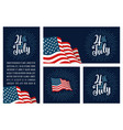set horizontal vertical square posters 4th vector image