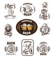 set icon beer vector image
