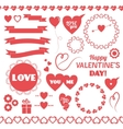 Set of elements for Valentines Day vector image vector image