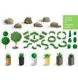 set of landscape elements vector image vector image