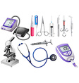 Set of medical equipment vector image vector image