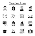 set teacher icons contains such icons as vector image