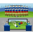 Soccer team 2 flat banners set vector image vector image