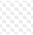 speech bubble heart pattern seamless vector image