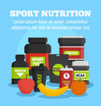 sport nutrition concept background flat style vector image vector image