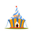 striped circus tent with flag circus show element vector image vector image