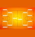 tournament bracket template for 8 teams on orange vector image