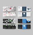 tri-fold template standard square size vector image vector image