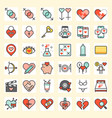 valentine and love related icon set vector image