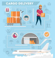 worldwide air delivery service poster vector image vector image