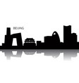 cityscape of beijing vector image