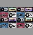watercolor cassettes pattern vector image