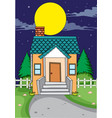 a simple house background vector image vector image