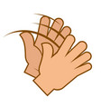 applause gesture clapping hands emoji isolated vector image vector image