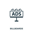 billboards icon premium style design from vector image