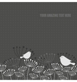 Birds on the grass vector image