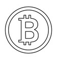 bit coin isolated icon vector image vector image