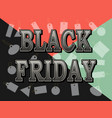 black friday sale vintage inscription design vector image