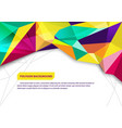 brochure template polygon background vector image