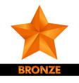 bronze star icon vector image vector image