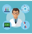 character medical scientist experiment laboratory vector image