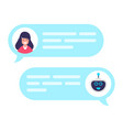 chat bot robot concept dialog with technical vector image
