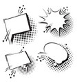 chat bubble icon set pop art style social media vector image