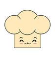 chef hat kawaii character vector image vector image