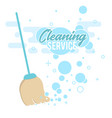 cleaning service design concept with broom vector image vector image