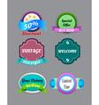 collection vintage colorful design labels vector image