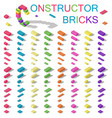 colored building blocks of plastic constructor vector image vector image