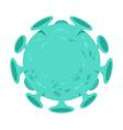 coronavirus infectious bacteria vector image vector image