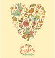 cute easter festive banner vector image vector image