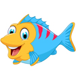 cute fish cartoon for you design vector image vector image